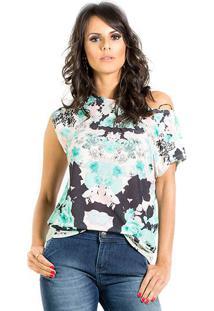 Blusa Jersey Estampada Floral Iódice P