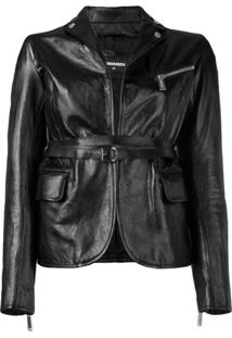 Dsquared2 Fitted Biker Jacket - Preto