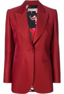 Emilio Pucci Blazer Com Detalhe De Laços - Vermelho