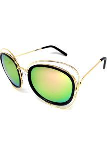 Óculos Solar Cayo Blanco Redondo Verde