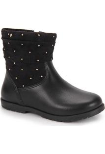 Ankle Boots Infantil Pampili - 23 Ao 30 - Preto