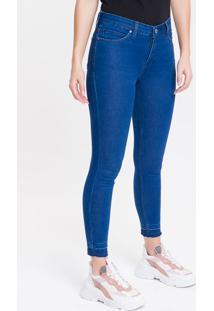 Calça Jeans Feminina Five Pockets Super Skinny Com Stretch Cintura Média Azul Royal Calvin Klein - 36