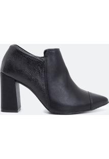 Sapato Feminino Salto Bloco Satinato Comfort