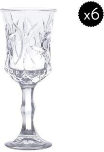 Jogo De Taças Para Vinho Banco Sunflower- Cristal- 6Rojemac