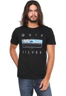 Camiseta Quiksilver Blocke Preta