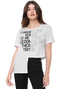 Camiseta Triton Assimétrica Branca