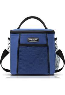 Bolsa Térmica G Adulto Azul E Preta - Jacki Design