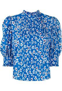 Rixo Blusa Mandy Com Estampa Floral - Azul