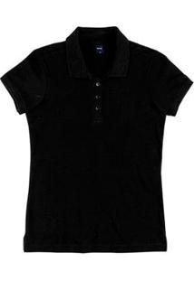 Camisa Polo Básica Slim Em Malha Piquê Feminina - Feminino