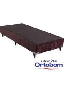 Box Solteiro - Camurça Marrom - Ortobom - 88X188X23