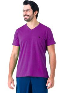 Camiseta Gola V Bymissfit Roxa