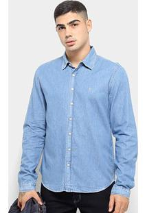 Camisa Jeans Manga Longa Zoomp Pedro Masculina - Masculino