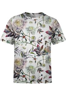 Camiseta Estampada Over Fame Floral Aquarela