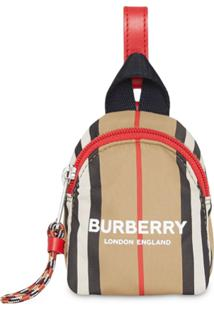 Burberry Kids Porta-Moedas Icon Com Listras - Amarelo