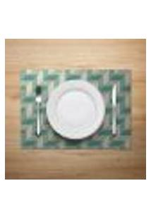 Jogo Americano 2Pçs Abstrato Verde - Mdecore