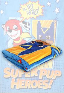 Cobertor Solteiro Lepper Patrulha Canina Menino Azul 1,50 X 2,20