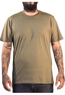 Camiseta Masculina Algodão Sandro Clothing Andrew Verde