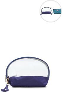 Necessaire Pagani Transparente Azul-Marinho
