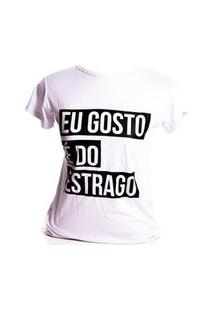 T-Shirt Prorider Bad Rose Branca Com Estampa Preta - Brcc08