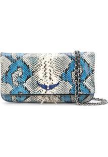 Zadig&Voltaire Bolsa Tiracolo Com Estampa Pele De Cobra - Azul