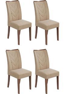 Conjunto Com 4 Cadeiras Atacama Imbuia E Creme