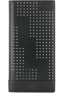 Cerruti 1881 Carteira Dobrável Com Detalhe Perfurado - Preto