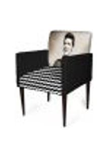 Cadeira Decorativa Sala Mademoiselle Plus Imp Digital 106 Elvis