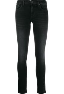 7 For All Mankind Illusion Universe Skinny Jeans - Preto