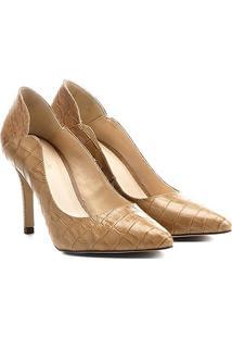 e0b0d1635b ... Scarpin Couro Shoestock Salto Alto Recortes
