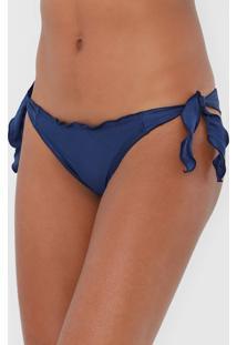 Calcinha Cia.Maritima String Drapeada Azul-Marinho
