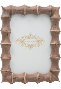 Porta Retrato Le Lis Blanc Casa Big Bamboo Marrom (Marrom Medio, Un)