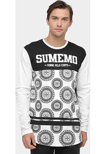 Camiseta Sumemo Long Line Estampada I Manga Longa Masculina - Masculino