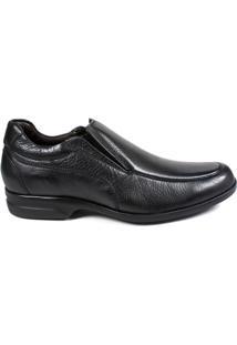 Sapato Confort Masculino Milano - Masculino-Preto
