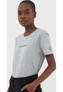 Blusa Calvin Klein Jeans Accept Cinza - Cinza - Feminino - Algodã£O - Dafiti