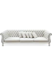 Sofá Versalhes Entalhado Madeira Maciça Design De Luxo Peça Artesanal