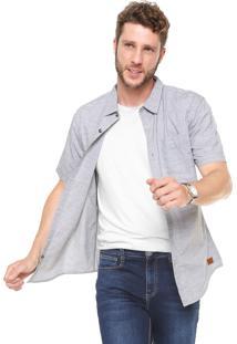 Camisa Hering Reta Com Bolso Cinza