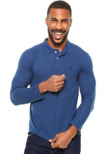 Camisa Polo Malwee Textura Azul