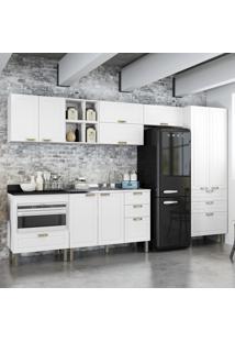 Cozinha Completa 9 Peã§As Americana Multimã³Veis 5659Mf Branco - Branco/Incolor - Dafiti