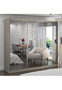 Guarda-Roupa Casal 3 Portas Com 3 Espelhos 100% Mdf 7318G4E3 Demolição - Foscarini