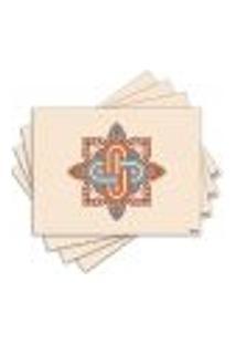 Jogo Americano - Mandala Com 4 Peças - 742Jo