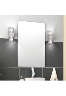 Espelho De Parede Malta Firenze 60Cmx80Cm Móveis Bosi Branco
