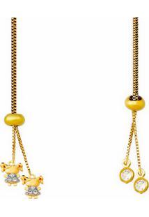 Colar La Madame Co Colar Gravatinha Dourado - Kanui