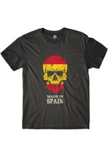 Camiseta Bsc Caveira País Espanha Sublimada Masculina - Masculino