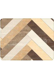 Tapete Wood- Marrom & Bege- 125X90Cm- Wevanswevans