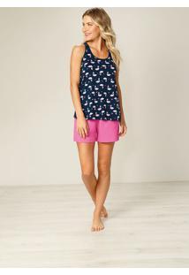 Pijama Flamingos Feminino Malwee Liberta