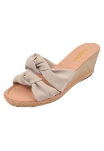Sandália Anabela Long Shoes Cinza