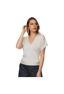 Blusa Feminina Estampada Vick Marí Poá Off-White