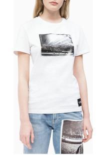 Blusa Ckj Fem M/C Andy Warhol Rodeo - Branco - Pp