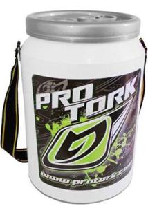 Cooler Térmico 24 Latas Pro Tork - Unissex-Branco+Verde