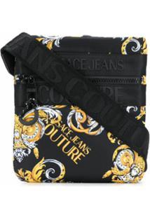 Versace Jeans Couture Logo Plaque Classique Print Shoulder Bag - Preto